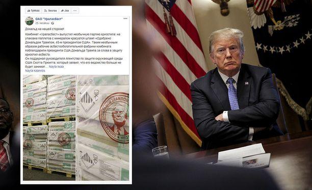 Donald Trump päätyi venäläisen asbestiyrityksen mainoskasvoksi.