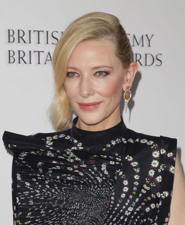 Blanchett ehti viihtyä vaaleissa hiuksissa pitkään. Tässä kuva syksyltä 2018.