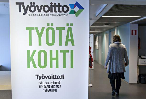 Näin Forssan kaupunki mainosti työllisyyspalvelujaan 2017.
