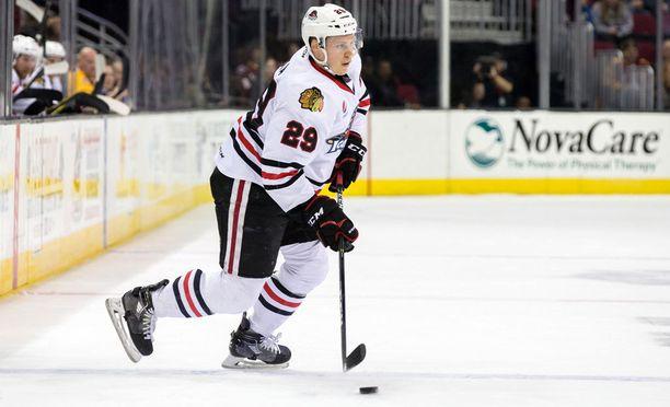 Ville Pokka pelasi viime kauden AHL-seura Rockford Ice Hogsissa.