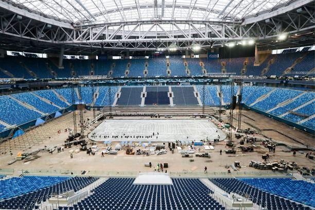 Krestovski-stadion toimi yhtenä päänäyttämöistä jalkapallon MM-kisoille viime kesänä.