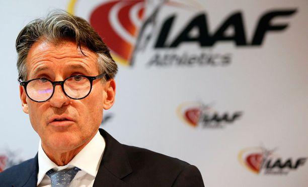Sebastian Coe on IAAF:n puheenjohtaja.