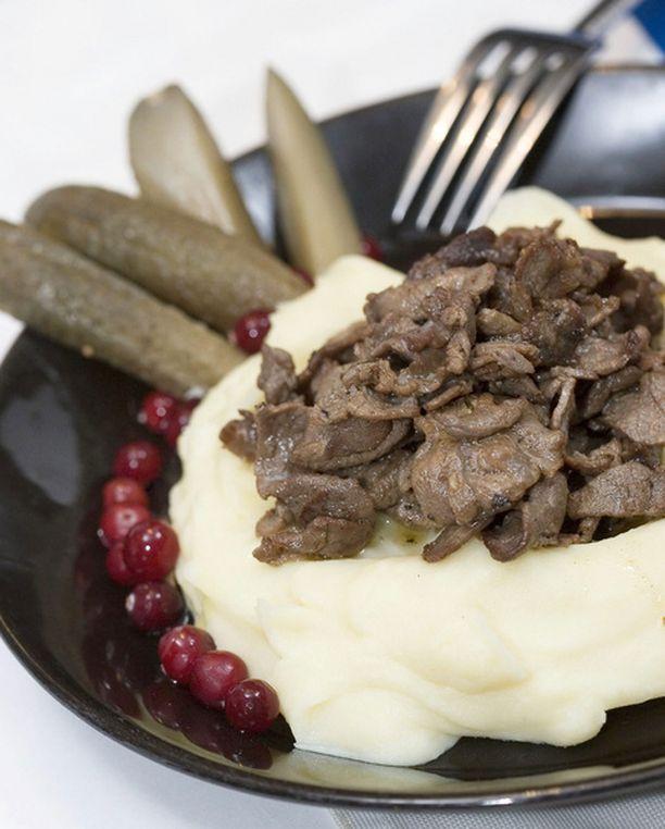 Puolukka ja poronliha ovat terveellistä pohjoismaista ruokaa.