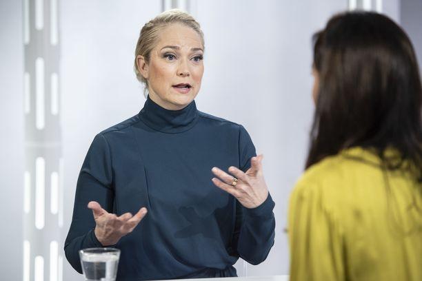 Pippa Laukka oli keskiviikkona Susanne Päivärinnan vieraana.