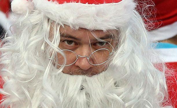 Joulupukit aiheuttivat kauhua Roomassa. Kuvan pukki ei liity tapaukseen.