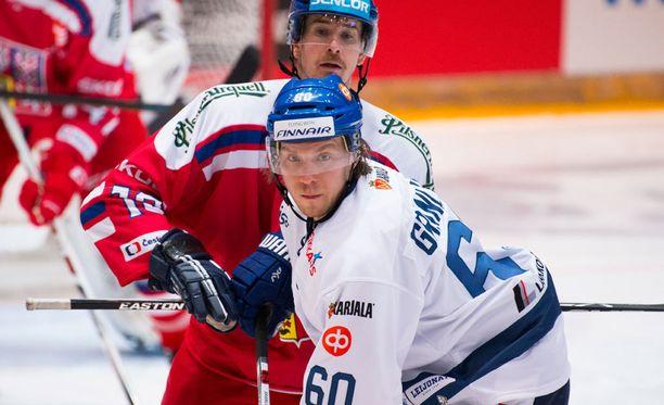 Markus Granlund debytoi Leijonissa Tshekkiä vastaan.