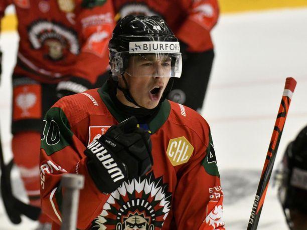 Joel Mustonen kuuluu Frölundan runkopelaajiin.