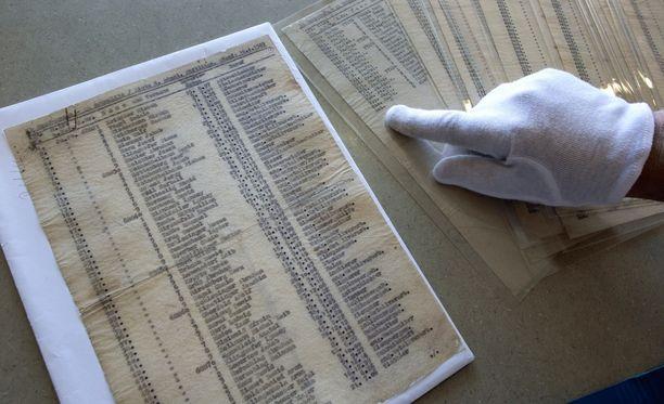 Yksi alkuperäisistä Schindlerin listoista on esillä Yad Vashemin holokaustimuseossa Jerusalemissa.