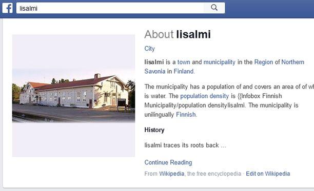 Iisalmen kaupungin työntekijöillä ei ole työajalla tänne asiaa. Paitsi työasioissa. Kuva on ruutukaappaus Facebookin Iisalmi-ryhmästä.