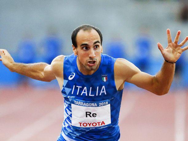 Davide Re ei kuullut varaslähtöääntä ja juoksi 150 metriä turhaan ennen varsinaista kisaa.