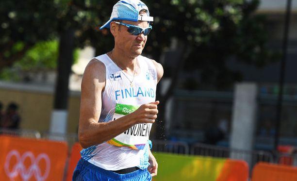 Jarkko Kinnunen oli parhaana suomalaismieskävelijänä kakkonen 10 kilometrin kisassa Ruotsi-ottelussa.