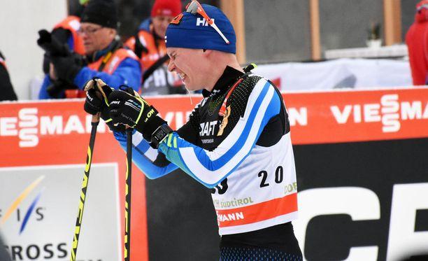 Matti Heikkiseltä tuli pitkää sylkeä, vaan ei oksennusta.