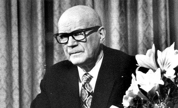 Urho Kekkonen toimi Suomen presidenttinä vuosina 1956-1982.