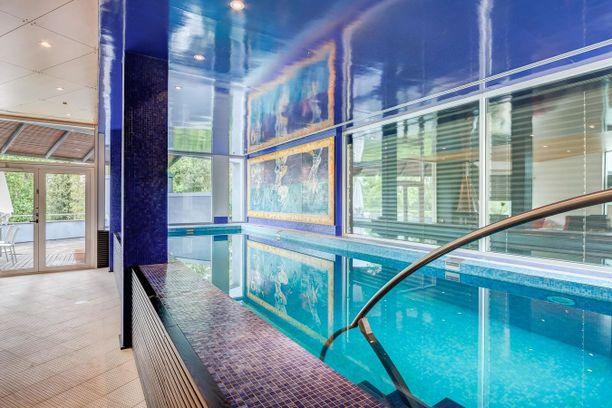 Taloon kuuluu oma uima-allas.