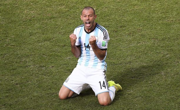 Argentiinan Javier Mascherano on antanut MM-kisoissa eniten syöttöjä.