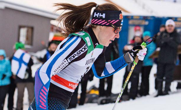 Mona-Lisa Malvalehto oli nopein suomalainen sprintin aika-ajoissa.