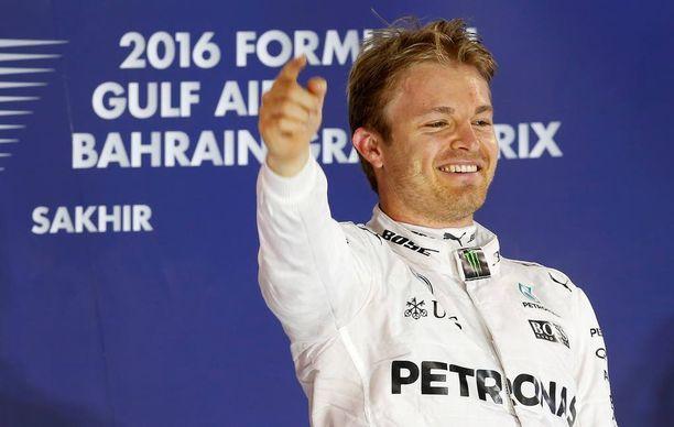 Nico Rosberg juhli eilen F1-voittoaan Bahrainissa.