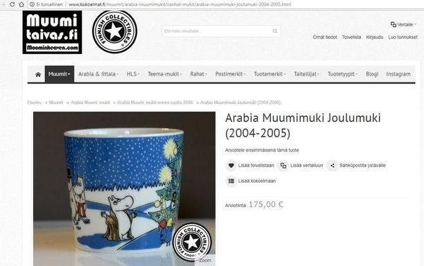 Sama hetki löytyy myös vuonna 2004-2005 myynnissä olleesta talvimukista, mutta kuvitustyyli on hyvin erilainen.