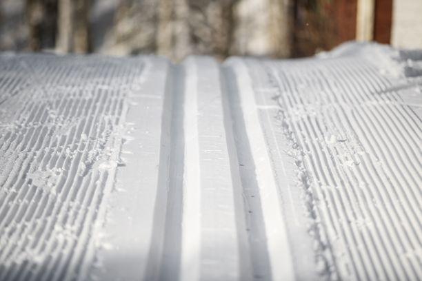 Heikki Hämäläinen hiihti tällä kaudella yli 3 000 kilometriä tykkilumella. Kuvituskuva.