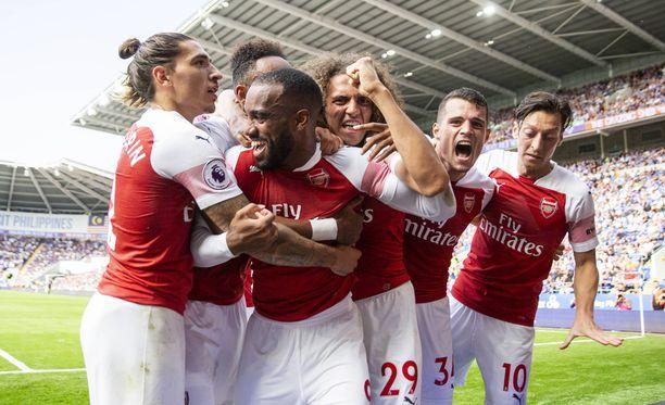 Alexandre Lacazette ratkaisi Arsenalille voiton.