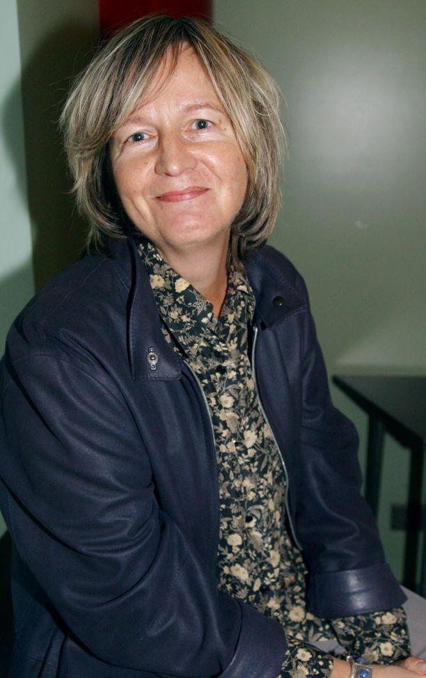 Kirsti Simonsuuri Tammen syysinfossa vuonna 2002.