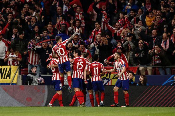 Saúlin neljännen minuutin maali riitti Atléticolle tärkeään kotivoittoon Liverpoolista.
