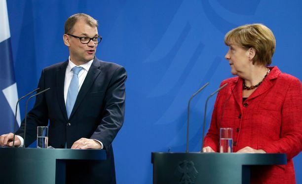 Pääministeri Juha Sipilä ja Saksan liittokansleri Angela Merkel tapasivat tiistaina Saksassa.