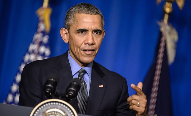 Yhdysvaltain presidentti Barack Obama puhui tiistaina Pariisin ilmastokokouksessa.
