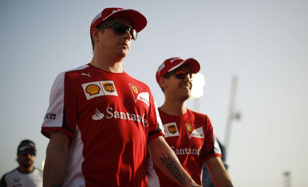 Kimi Räikkönen ja Sebastian Vettel tekevät Ferrarin uutta tulemista.