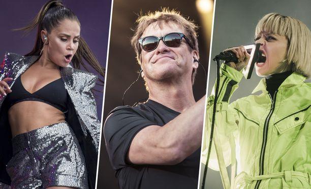 Festivaaleilla on tarjolla musiikkia laidasta laitaan.