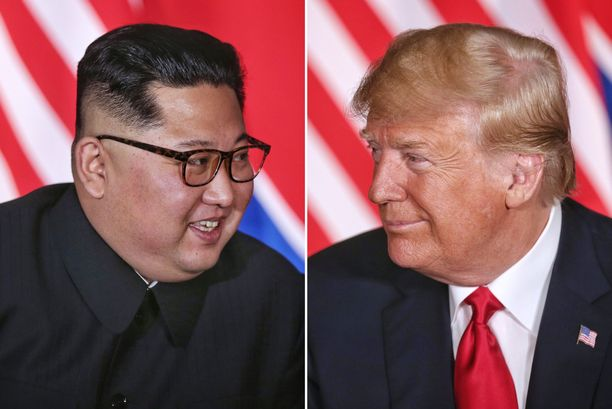"""Ennen ensimmäistä yhteistä tapaamista Trump ehti suututtaa Kim Jong-unin kutsumalla tätä """"Rakettimieheksi""""."""