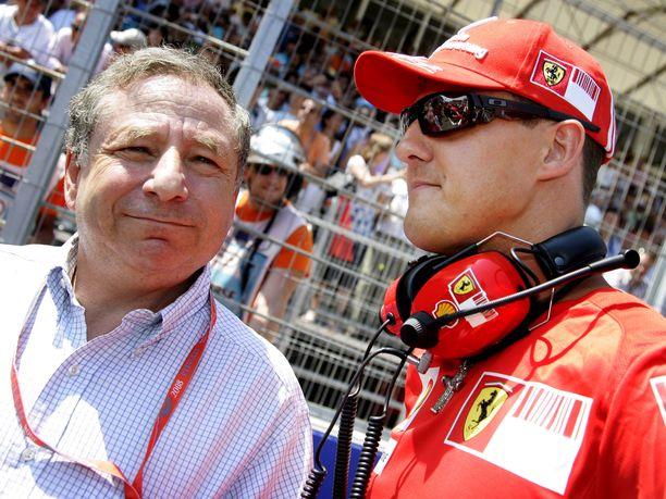 Jean Todt ja Michael Schumacher saavuttivat Ferrarilla yhteensä viisi maailmanmestaruutta.