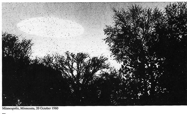 Minneapoliksessa Yhdysvalloissa lokakuussa 1960 kuvattu tunnistamaton esine.