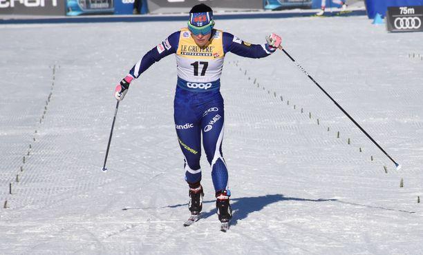 Krista Pärmäkoski sijoittui Val di Fiemmessä neljänneksi.