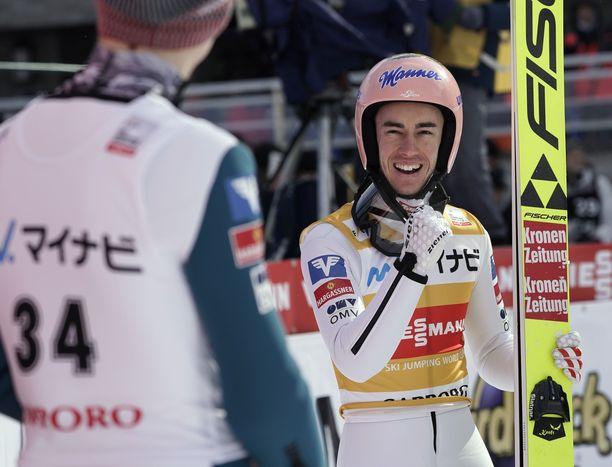 Stefan Kraft tuuletti voittoa Sapporossa.