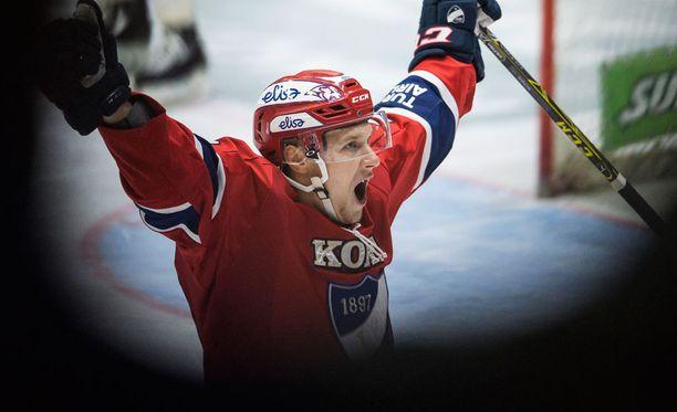 HIFK:n Jasse Ikonen pelaa niin kuin puhuu. Liigan välierät alkavat perjantaina.