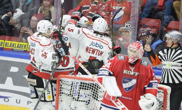 Sport löi HIFK:n Nordiksella keskiviikon ainoassa SM-liigan ottelussa.