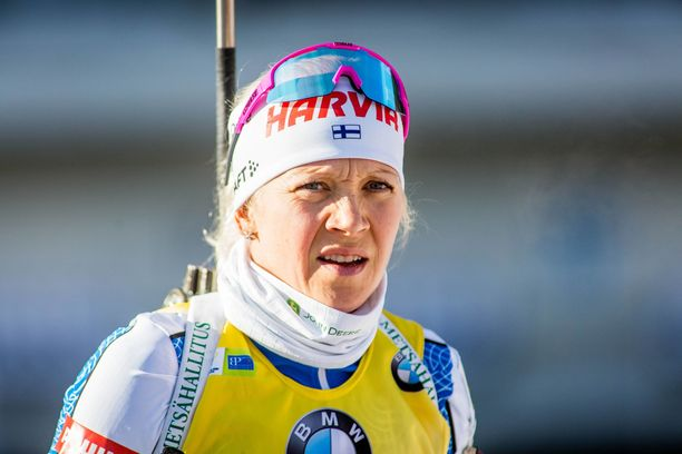 Kaisa Mäkäräinen onnistui ammunnassa lauantaina.