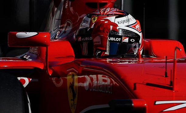Kimi Räikkönen päätti testikautensa lauantain kolmanneksi parhaaseen kierrosaikaan.