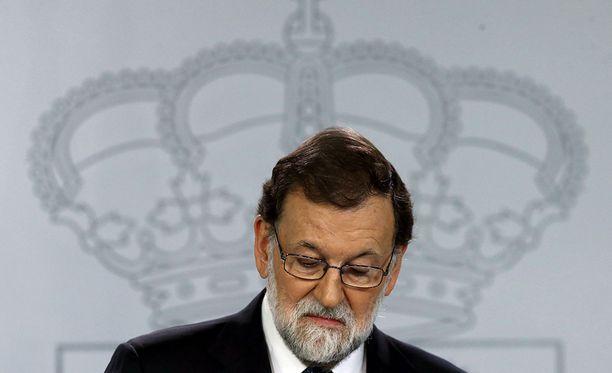 Espanjan pääministeri Mariano Rajoy sanoi, että hänen hallituksellaan ei ole muuta vaihtoehtoa kuin ottaa Katalonia keskushallinnon alaisuuteen.