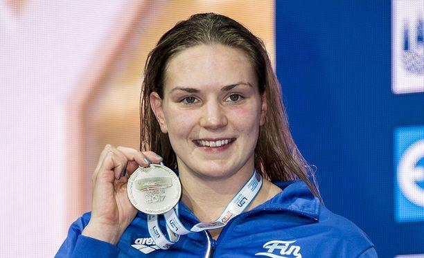 Jenna Laukkanen nappasi jo toisen hopeamitalin Kööpenhaminan EM-kisoista.