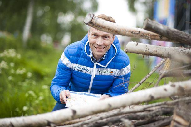 Timo Ritakallio on intohimoinen suunnistusmies. Hän kilpaili viikonloppuna Jukolan viestissä Kangasalla.