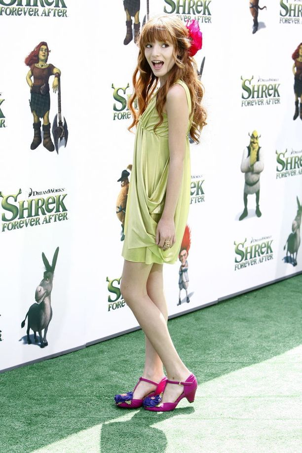 Tällaiselta Thorne näytti vuonna 2010 Shrek ja ikuinen onni -elokuvan ensi-illassa.