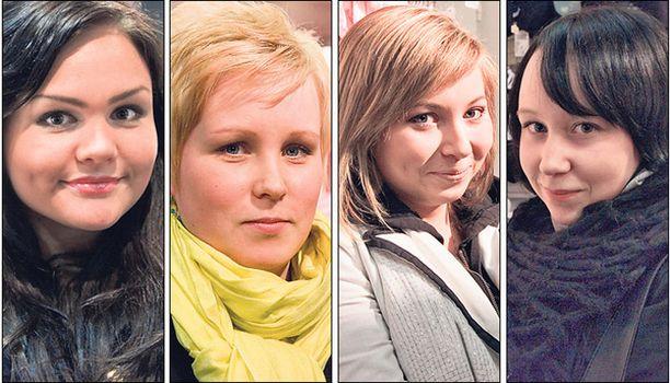 Vasemmalta: Kukka Roine, Leena Rekola, Iina Sepponen, Mira Venäläinen.