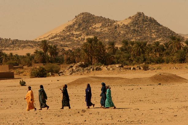 Sudanin Wadi Halfassa on kuumaa ja kuivaa.