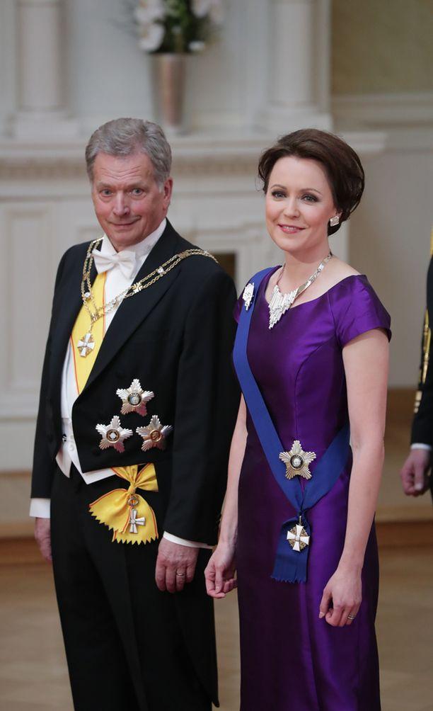 Rouva Haukion juhlaeleganssi on Sari Nordströmin käsialaa.