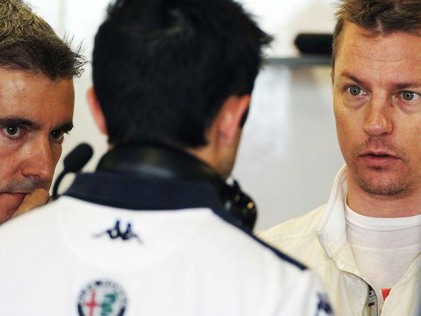 Kimi Räikkönen palasi tiistaina Sauberille.