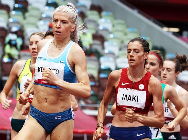 Sara Kuivisto viiletti Suomen ennätykseen 1500 metrin alkuerässä Tokion olympialaisissa.