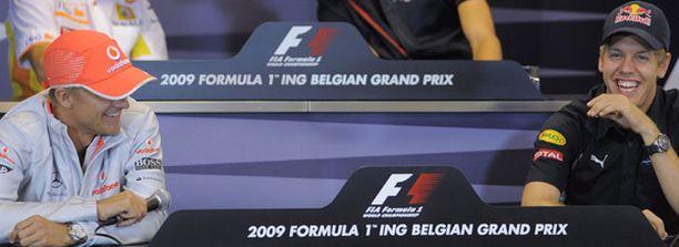 Heikki Kovalainen ja Sebastian Vettel pistivät vitsiksi.