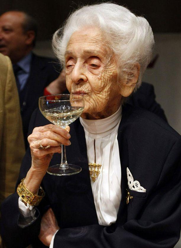 Levi-Montalcinin juhli 100-vuotispäiväänsä viime viikolla Italiassa.